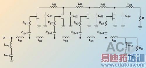 宽带阻抗变换器的phemt分布式功率放大器