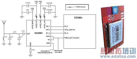 2km 距离gps定位模块电路图
