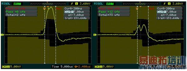 可以通过存储菜单对示波器内部存储区和μsb存储设备上的波形,设置