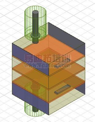 4级谐振腔体耦合滤波器hfss设计模型