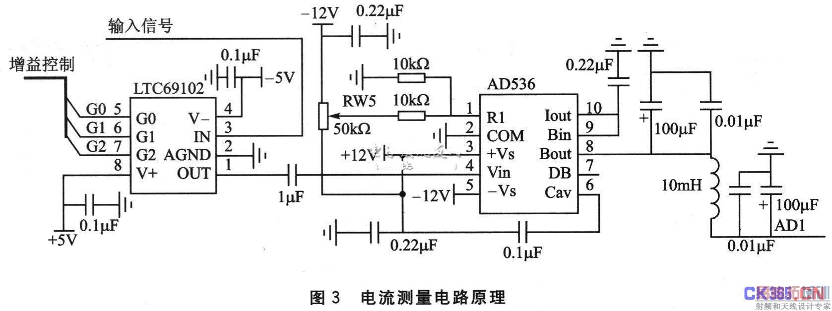 2.3 RS485电路   图4所示的单片机与RS485通信转换电路中,通过3个光耦器件对单片机电路和RS485总线进行隔离,提高系统的抗干扰能力。采用SP485E来支持RS485串行协议,但由于SP485E的工作逻辑是TTL电平,而RS232通信的逻辑电流不是TTL电平,需要通过SP232器件进行电平转换,如图5所示。RS485工作在半双工通信状态,通过CTR485控制数据的输入/输出方向。