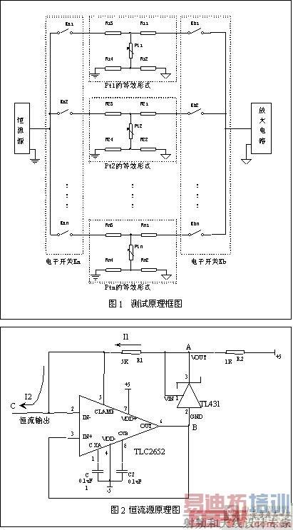 恒流源电路设计中使用了tlc2652高精度斩波稳零运算放大器[2]和电压