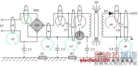 变压器漏磁对回路产生的电磁感应
