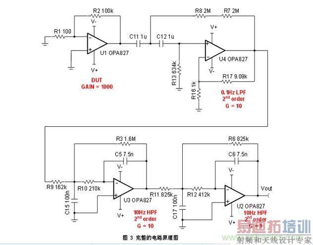 第一级–dut这个电路的用途是测量运算放大器的低频噪声.