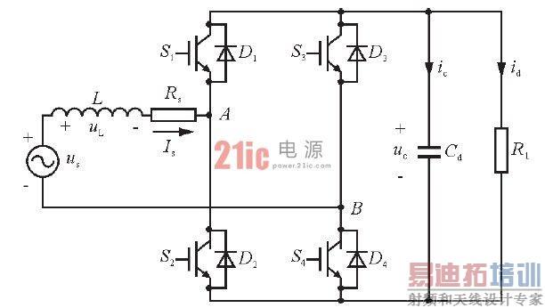 1 pwm整流电路的控制方法   单相全桥pwm整流器拓扑结构采用具有4