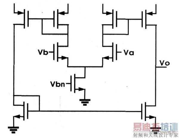 2  电流比较电路   电流比较电路由电压比较器a 1, 若干电阻和mos管