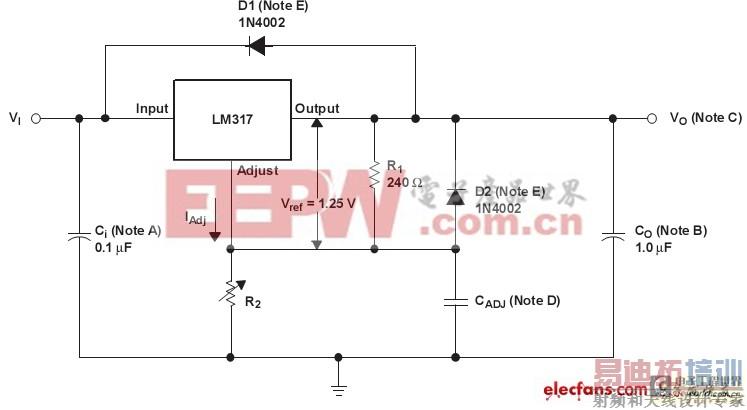 本次的lm317的突出特点是其输出电流能够达到1.