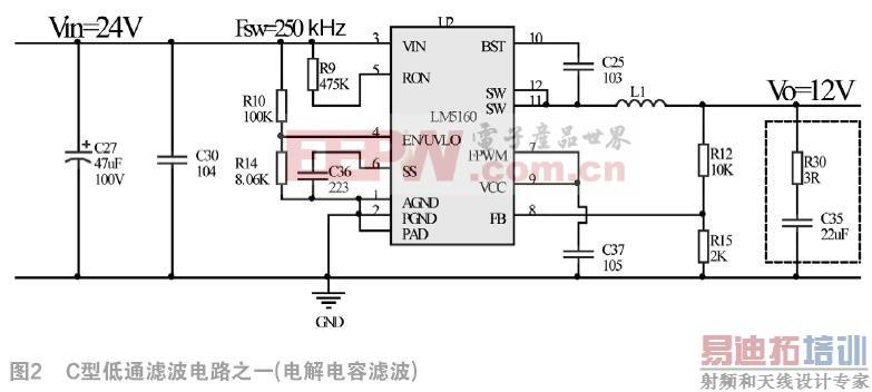 ti(德州仪器)电源管理芯片lm5160的sync-buck(同步降压斩波器)方案