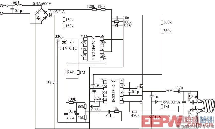 一种4级智能可调光荧光灯电子镇流器电路设计