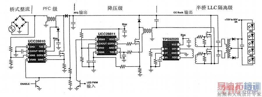 电子设计 电源技术 电源技术 > 基于单级pfc控制器ucc28810的led照明图片